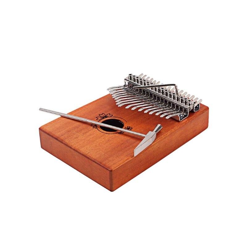 17 teclas Kalimba Pino macizo africano de caoba dedo pulgar Piano Sanza Mbira Calimba tocar con guitarra instrumentos musicales de madera