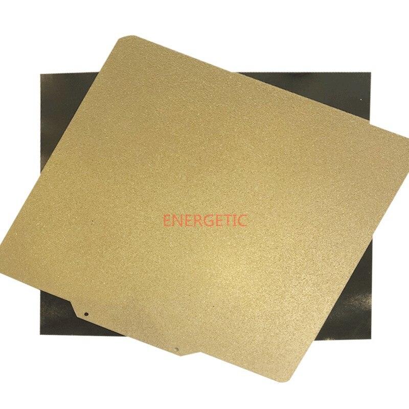 Lámina recubierta de polvo de Railcore de 340x325mm, textura de doble cara/placa de construcción de acero suave PEI + Base magnética