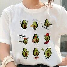 Femmes Kawaii dessin animé avocat motif impression T-shirt décontracté à manches courtes hauts femme T-shirt été harajuku vêtements t-shirts