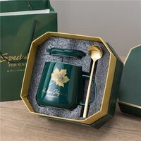 universal cute mug packaging box reusable travel custom fashion cup with spoon tazas desayuno originales creative cup bd50ms