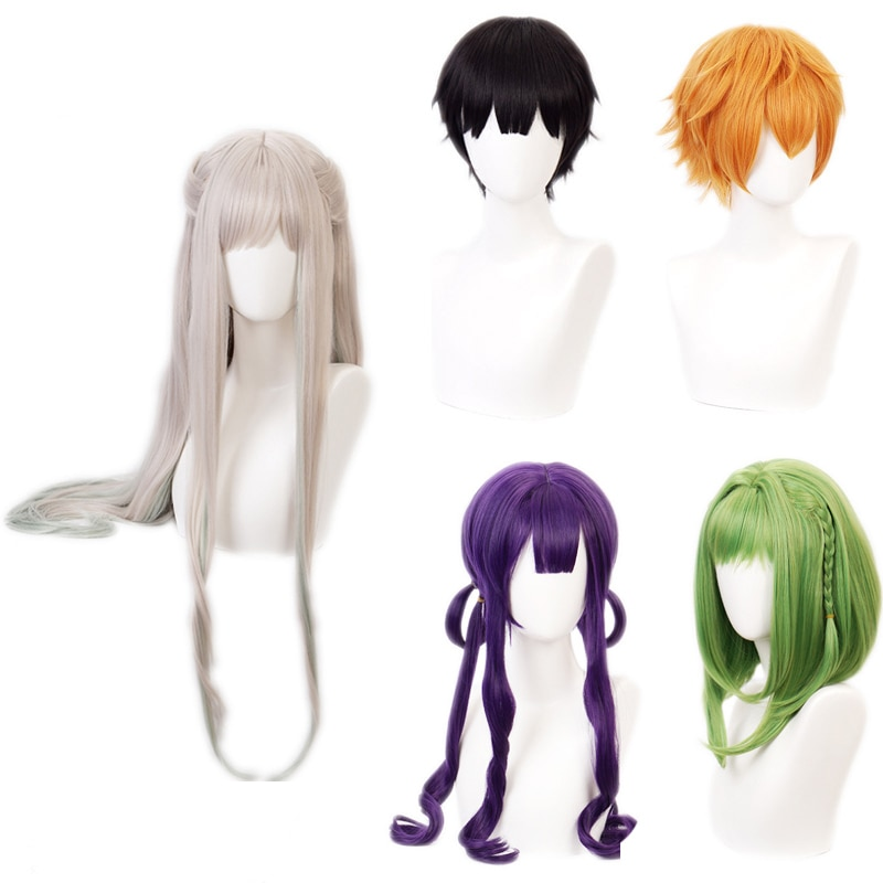 Disfraces de Cosplay Anime de Jibaku Shounen Hanako Kun, pelucas Minamoto Kou Aoi para Halloween CS162