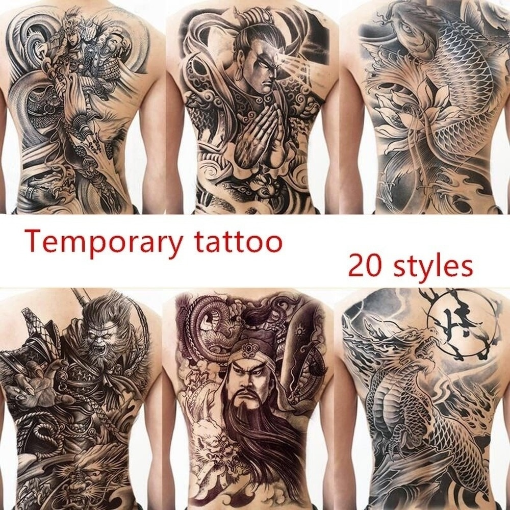 Large Back Temporary Tattoo Sticker Waterproof Tattoo Sticker Cool Art Fake Tattoo Sticker