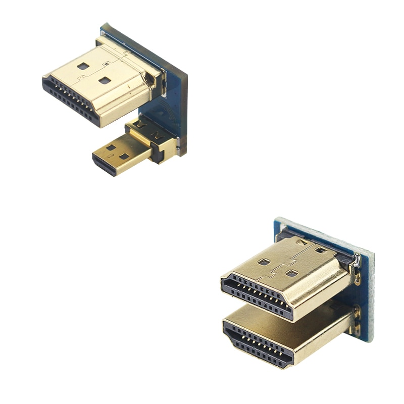 1080P HDMI в Micro HDMI конвертер папа-папа адаптер для Raspberry Pi 3/4 HDMI ЖК-дисплей с сенсорным экраном