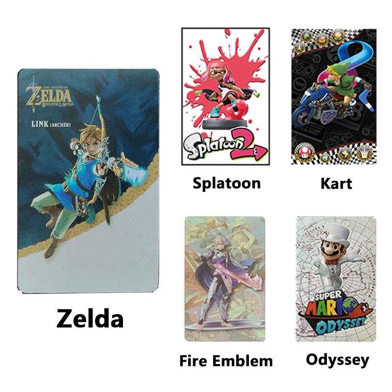 Эмблема Splatoon 2 Mario-Odyssey Kart Fire, набор карт Zelda-Amiibo для Nintendo Switch Lite