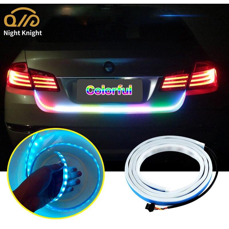 Ночной рыцарский автомобильный светильник для багажника, тормозной сигнал, поворотный сигнал, цветсветильник поток, s, Автомобильный задни...