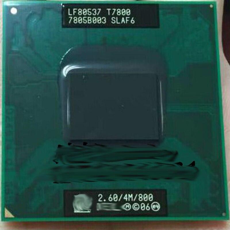 Cpu t7800 2.60/4m/800 pga