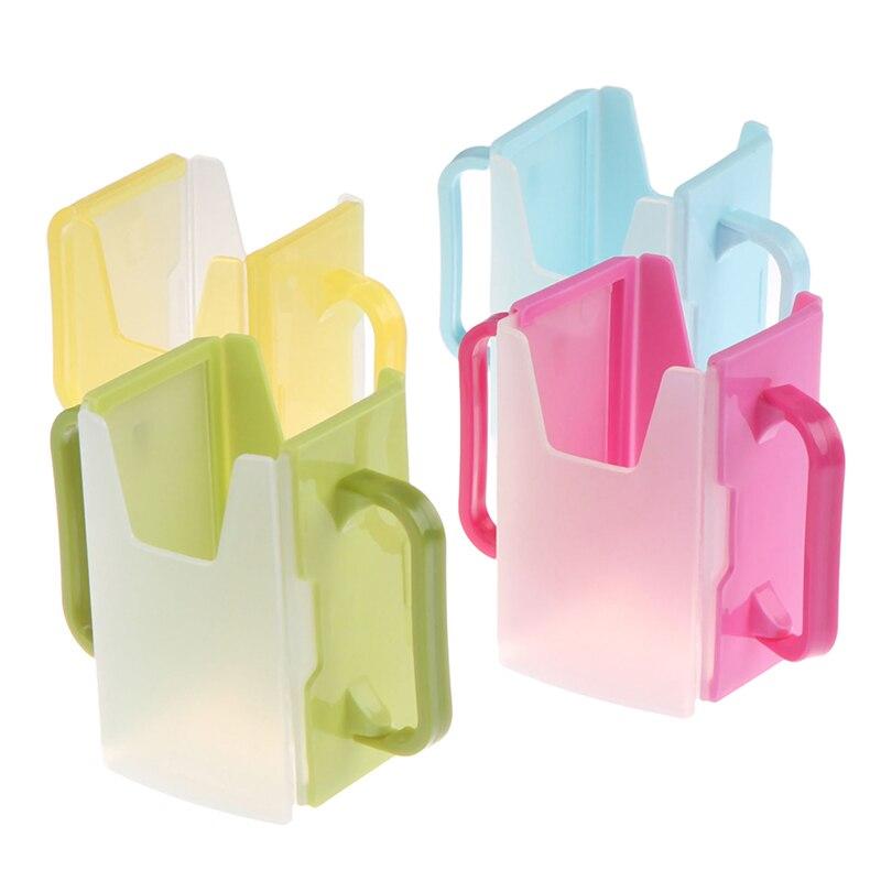 Garrafa copo de leite titular plástico bebê criança suco ajustável caixa de segurança bebendo