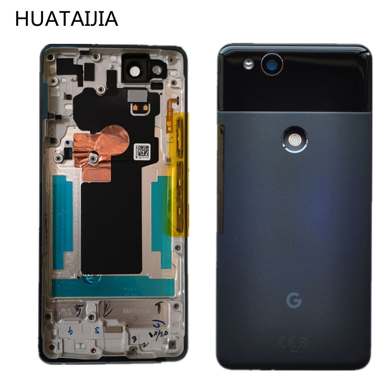 5.0 inch For Google Pixel 2 Original Back CASE Google Pixel2 door Rear Housing Google Pixel 2 part battery glass