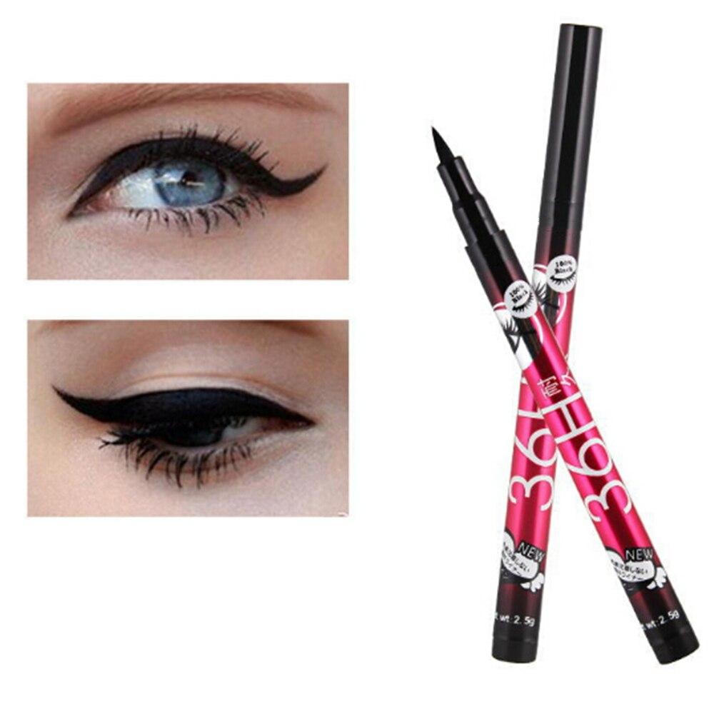 1 Uds delineador de ojos resistente al agua de larga duración lápiz negro 36H delineador de ojos líquido lápiz maquillaje liso cosmético para sombra de ojos
