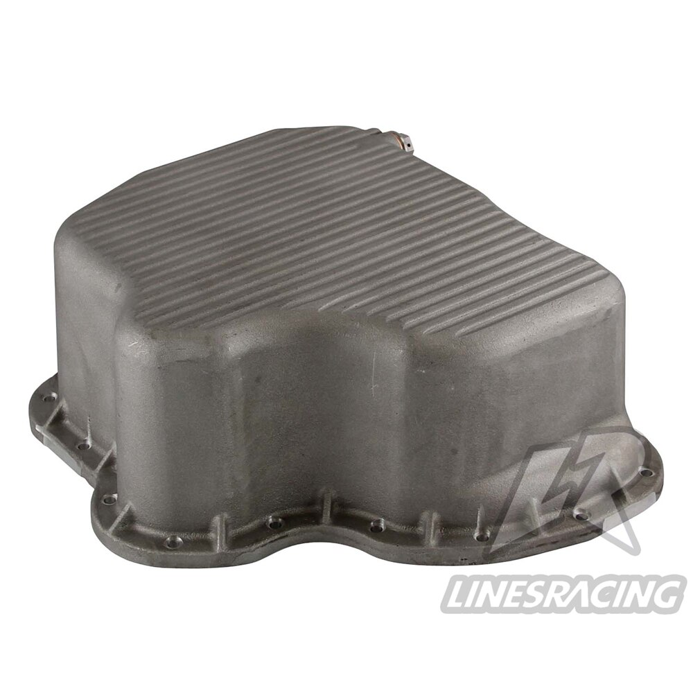 Sartén de aceite de aluminio fundido de alta capacidad para 2001-2010 6.6L LB7 LLY LBZ LMM Duramax negro/plata