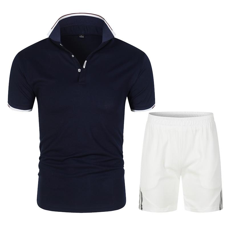 Новинка 2021, мужская рубашка-поло, мужской повседневный костюм, хлопковая рубашка-поло, Мужская Высококачественная рубашка-поло с короткими ...