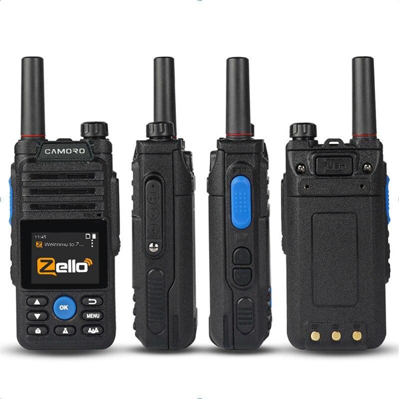 Free Earphones 6800mAh Zello 4G Network Walkie Talkie Gps Bluetooth POC Radio Transmitter Android walkie-talkie 50km 100 KM enlarge