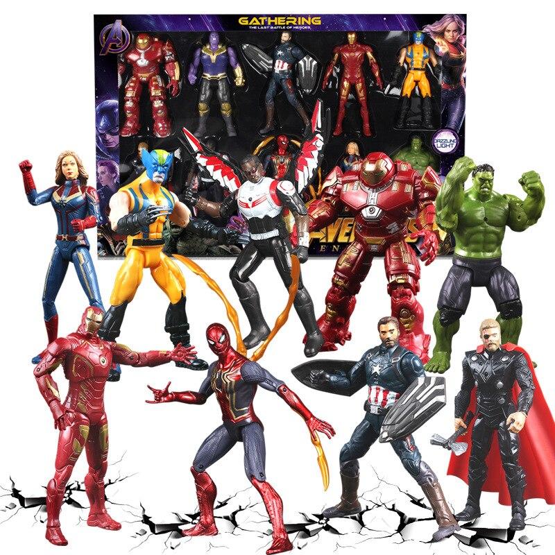 NEW Marvel Avengers 4 Endgame Movie Anime Black Panther SpiderMan Captain America Ironman hulk thor Superhero Action Figure