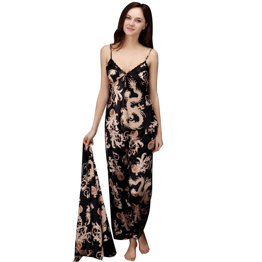 Woman Pajamas Set Maternity Sleepwear Lady Sexy Cardigan Deep V Sling and Pants Suit Pregnancy Nursing Breastfeeding Nightwear