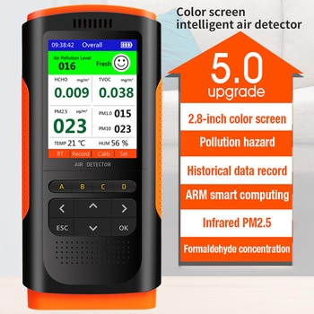 Air Quality Monitor Formaldehyde Detector Portable Display Formaldehyde Detector Ndoor Air Pollution Meter Micro Dust TesterNice