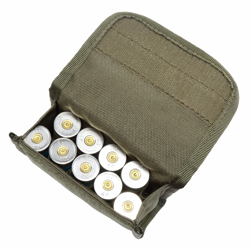 10 round 12gauge 12ga molle pouch tactical shell holder ammo bag military army hunting bandolier cartridges bullet holder bag 10 Round 12Gauge 12GA Molle Pouch Tactical Shell Holder Ammo Bag Military Army Hunting Bandolier Cartridges Bullet Mag Bag