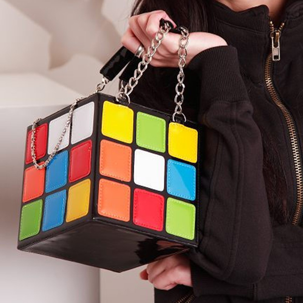 حقيبة يد أنيقة من جلد البولي يوريثان على شكل صندوق ، حقيبة سلسلة مصممة ، حقيبة حمل فاخرة ، محفظة صغيرة ، 2021