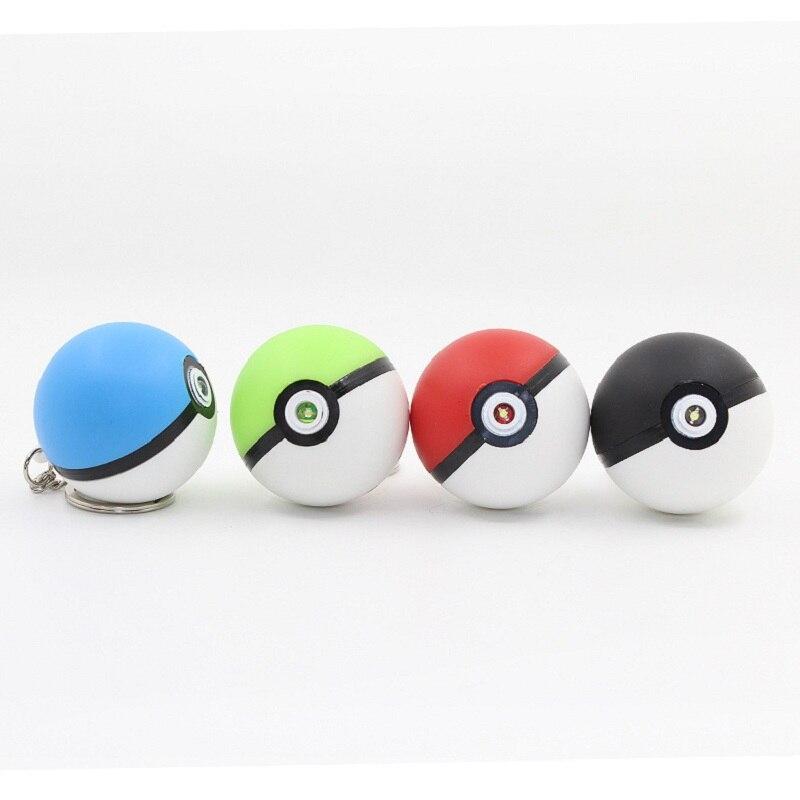 2020 Pokemon Toys Pet Elf Ball Pokemon Ball LED Sounds Shiny Keychain Pendant Small Boyfriend Gift