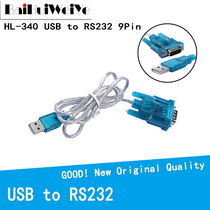 usb to rs232 female serial data cable 9 pin rs232 usb cable for electronic display electronic scale extension rs232 cable High Quality HL-340 HL340 USB to RS232 COM Port Serial PDA 9 pin DB9 Cable Adapter Support Windows7 64bit USB to serial cable