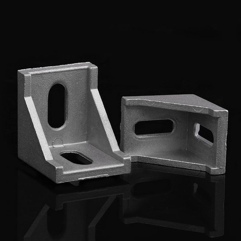 10pc Aluminium Profil Extrusion Halterung 2020 2028 3030 3060 4040 4080 4545 Ecke Fitting Winkel 20 30 40 45 stecker CNC Teil