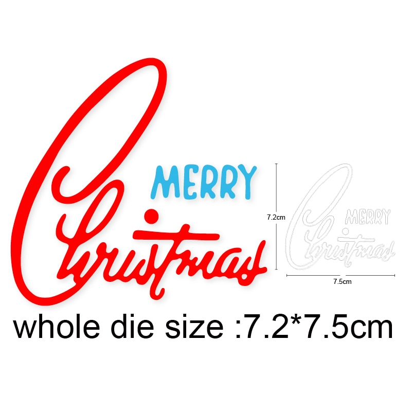 Metal Cutting Dies For Stamp Scrapbooking Stencils DIY merry christmas words Paper Album Cards Decor Embossing 2020 New