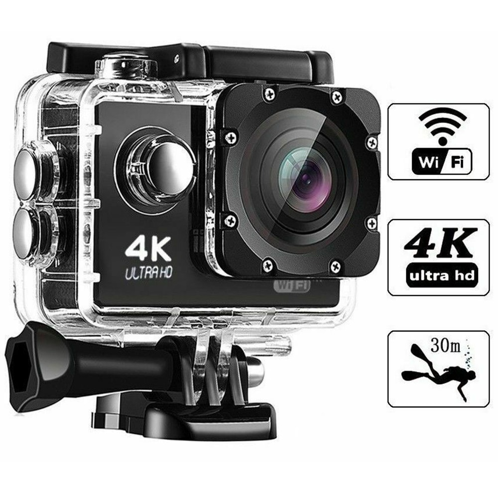 Camera pink WIFI ULTRA HD 4K sport with GoPro controller 2