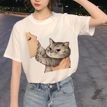 Harajuku Mona Lisa T Shirt Women Aesthetic shirt Ullzang Vintage 90s tshirt New Fashion Top Tees Female Tumblr Clothing