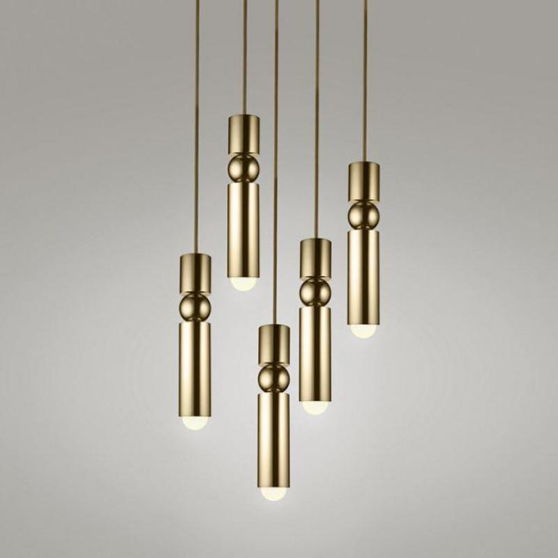 حلية ذهبية ضوء الشمال بسيط لوفت إضاءة أمامية واحدة السرير المطبخ قطرة Led أضواء المطبخ نجفة معلقة