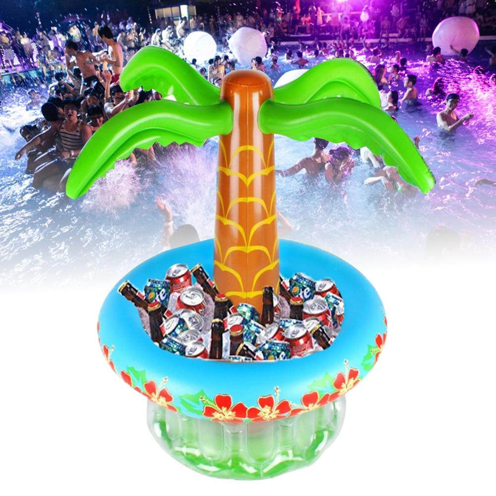 Pvc verão piscina indor vinho ao ar livre uísque balde de gelo bebidas refrigerador coco árvore praia festa recipiente inflável grande capacidade