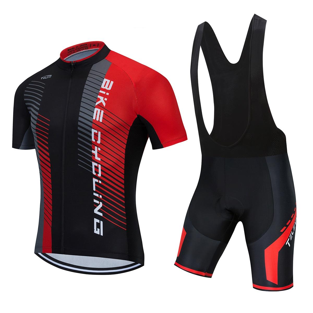TELEYI-Ropa para equipo de Ciclismo, pantalones cortos con almohadilla 5D, conjunto de...