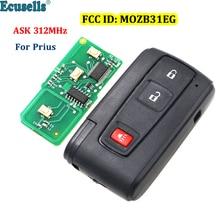 2+1/3 buttonS ASK 312MHz remote key FCC ID: B31EG-485 TOY43  for TOYOTA Prius MOZB31EG with emergency key