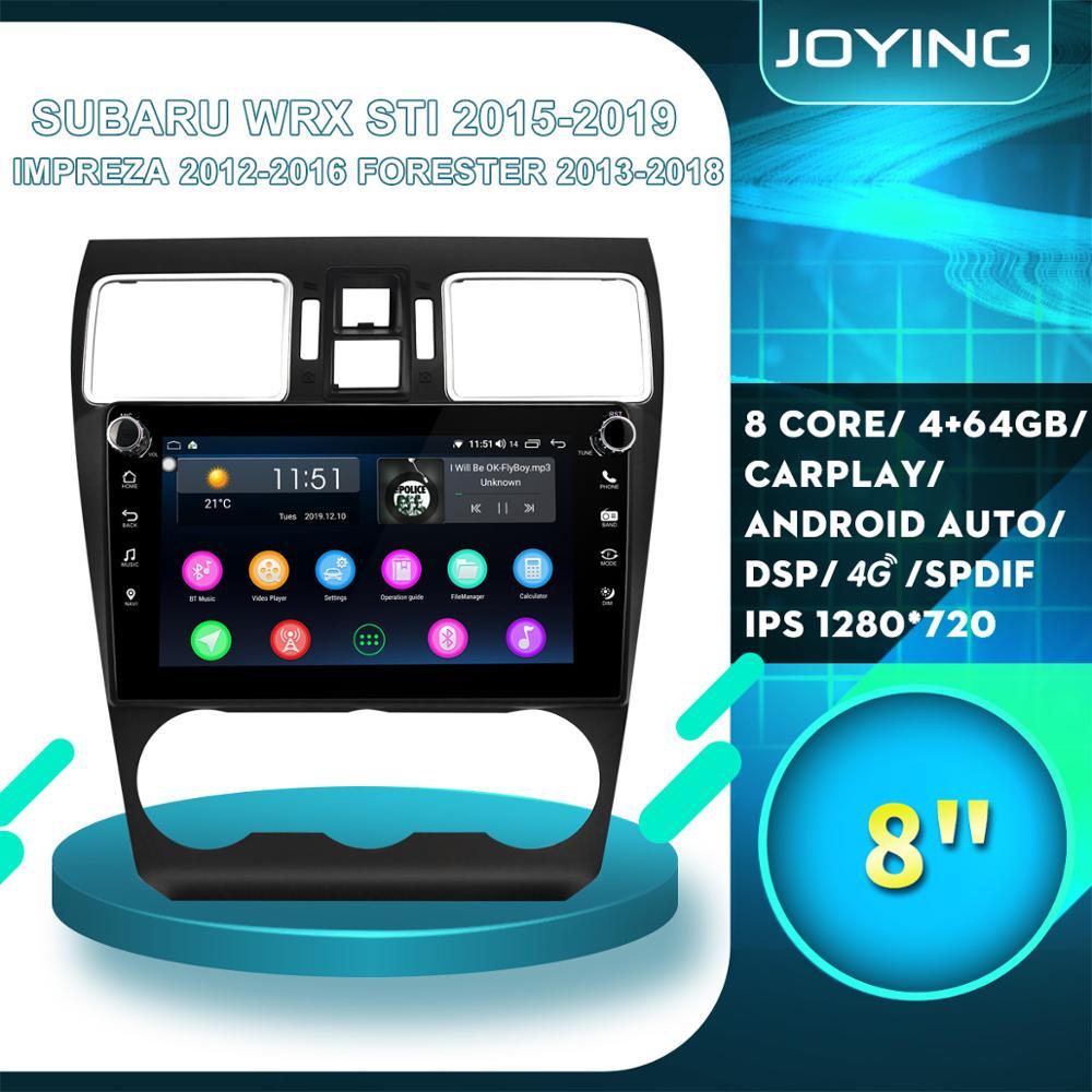 "8 ""2 din android rádio estéreo autoradio multimídia player para subaru forester 2013 2016 ar condicionado tomada com borda prata"