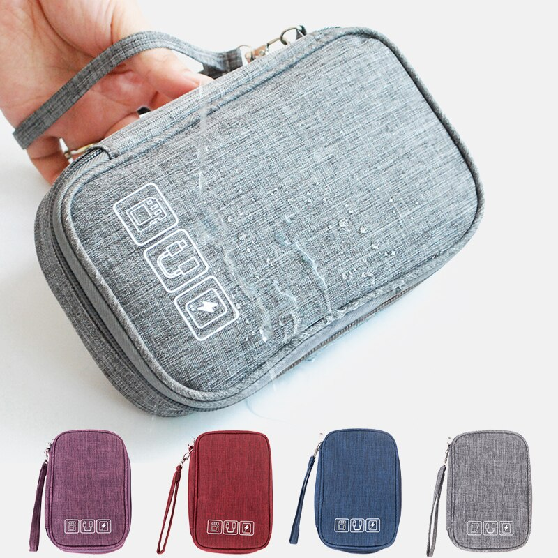 Portable Electronic Earphone Cable Bag Organizer Digital USB Gadget Wires Charger Accessories Suppli