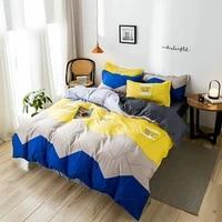 4pcs aloe cotton cover set baby bear cartoon edding kids boys girls simplicity quilt cover queen bed set dropship