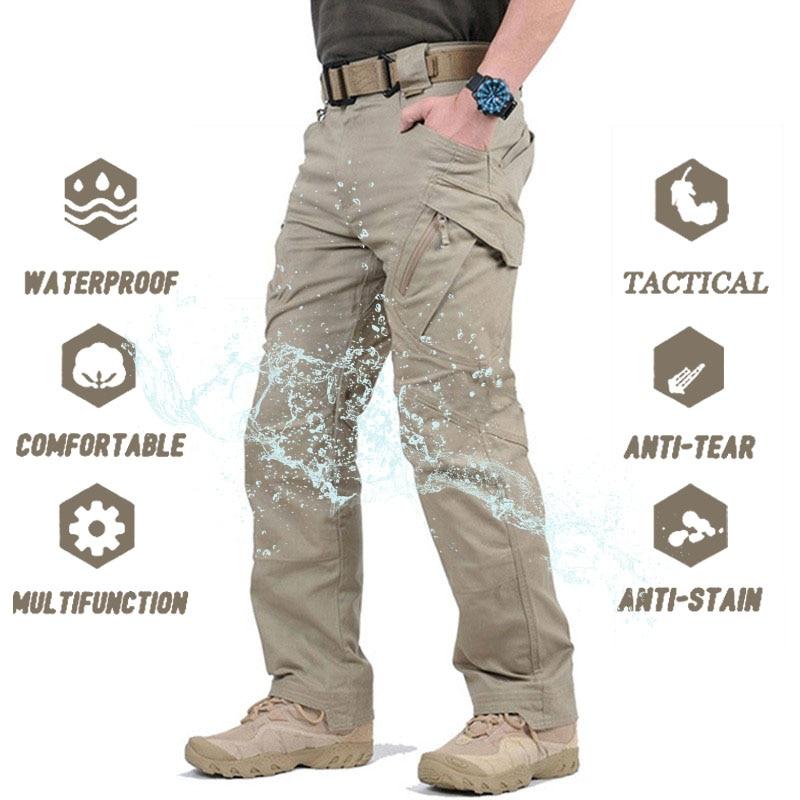 Брюки IX9 мужские тактические, повседневные Походные штаны, армейские штаны SWAT, уличные штаны-карго, милитари