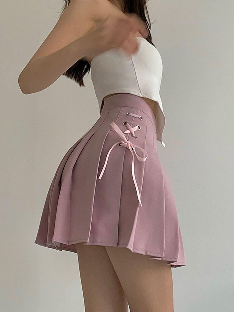 A-line Skirt Women's Summer 2021 New High Waist Pleated Skirt, Foreign Style, Thin Short Skirt