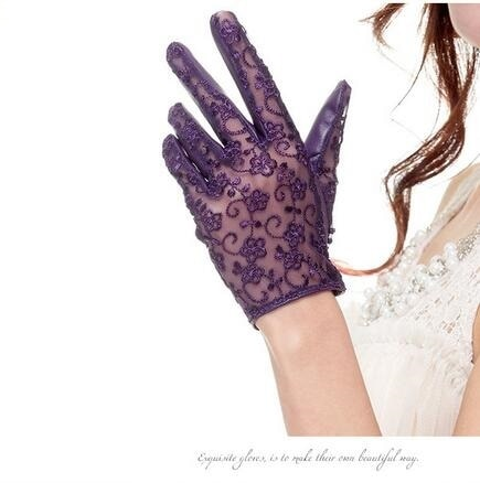 Guantes de piel de oveja de lujo de 2020, guantes anti-uv de señora para motocicleta, envío gratis G306-03