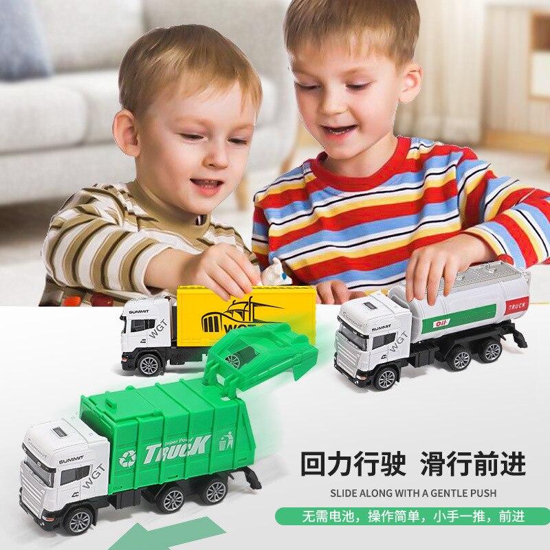 Детская игрушка с обратной стороны, сплав, автомобиль, мальчик, труба, моделирование, санитария, Переработка мусора, грузовик, разбрызгивате...