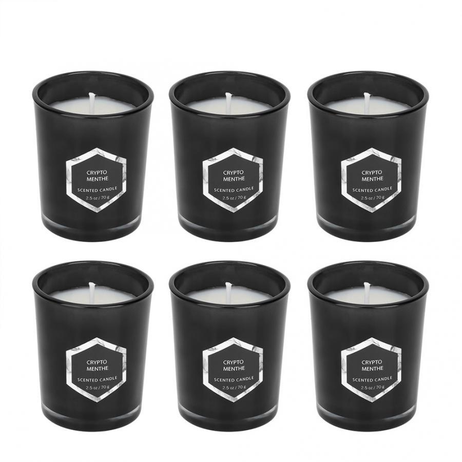 Nuevas velas perfumadas de lavanda 6 uds. Velas perfumadas de cera de soja y vainilla de lavanda Rosa velas perfumadas para regalo decoración del hogar