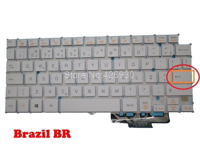 Brasil BR HMB8130ELB35 AEW73489805 teclado para LG 13Z940 13Z935 13Z950 14Z950 14Z960 LG13Z93 LG13Z95 LG14Z95 LG14Z96