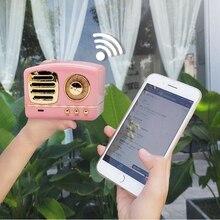 Creative Retro Wireless Bluetooth Audio Mini Portable U Disk TF Card High Quality Bluetooth Speaker with FM