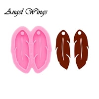 feather earrings resin silicone molds diy jewelry shiny epoxy mould custom wholesale dy0589