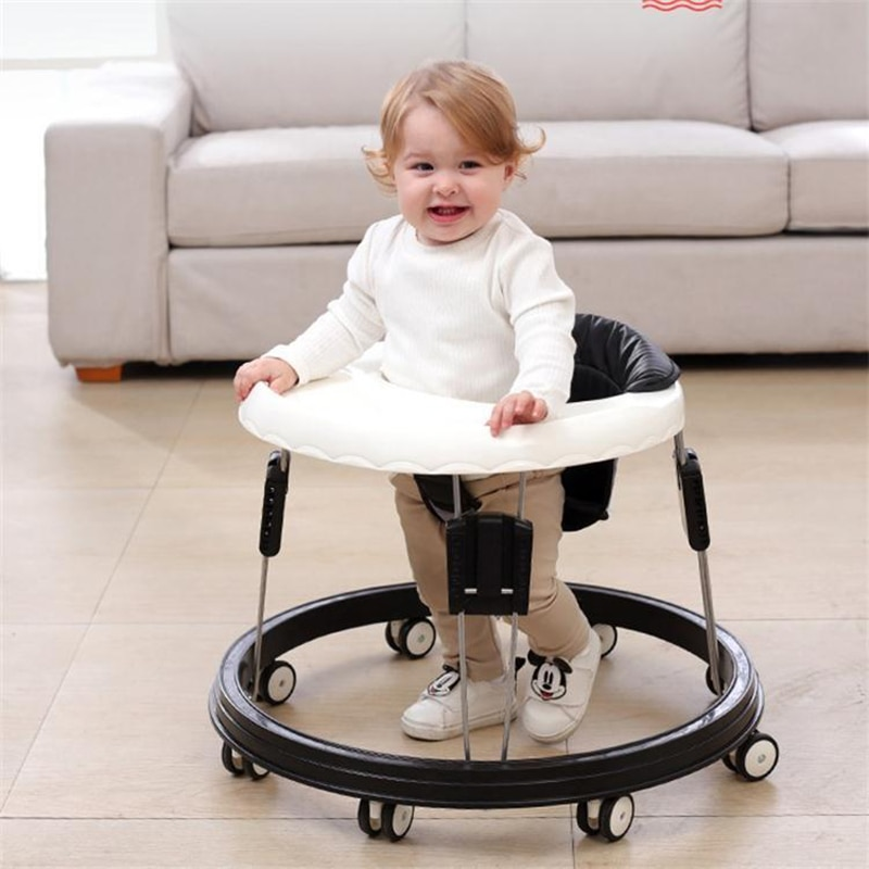 Walker With Wheel Baby Walk Learning Anti Rollover Foldable Baby Walker Multifunctional Adjustable Infant Seat Car 0-36 Months недорого