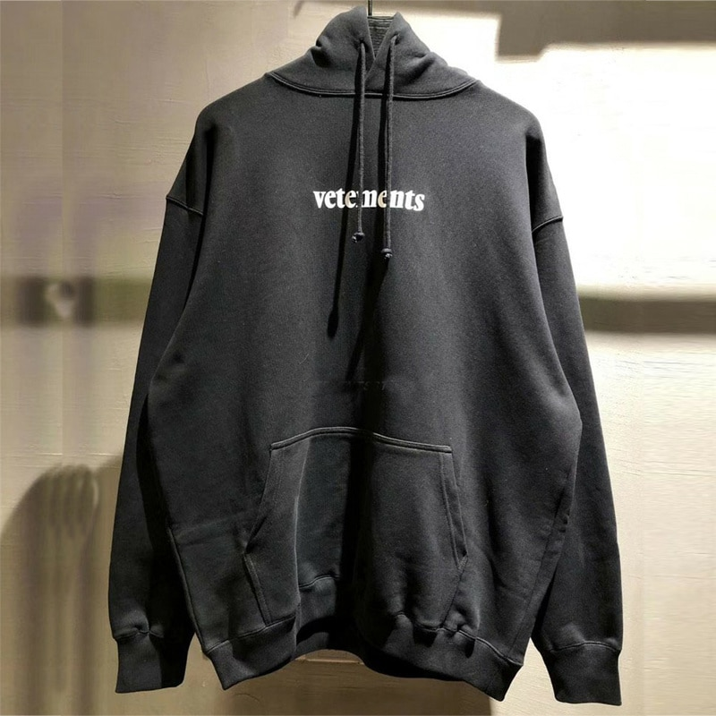 High Street Loose Embroidered Vetements Hoodie Men Women 1:1 Best Quality VTM Pullover Hoody Big Tag Patch Vetements Sweatshirts