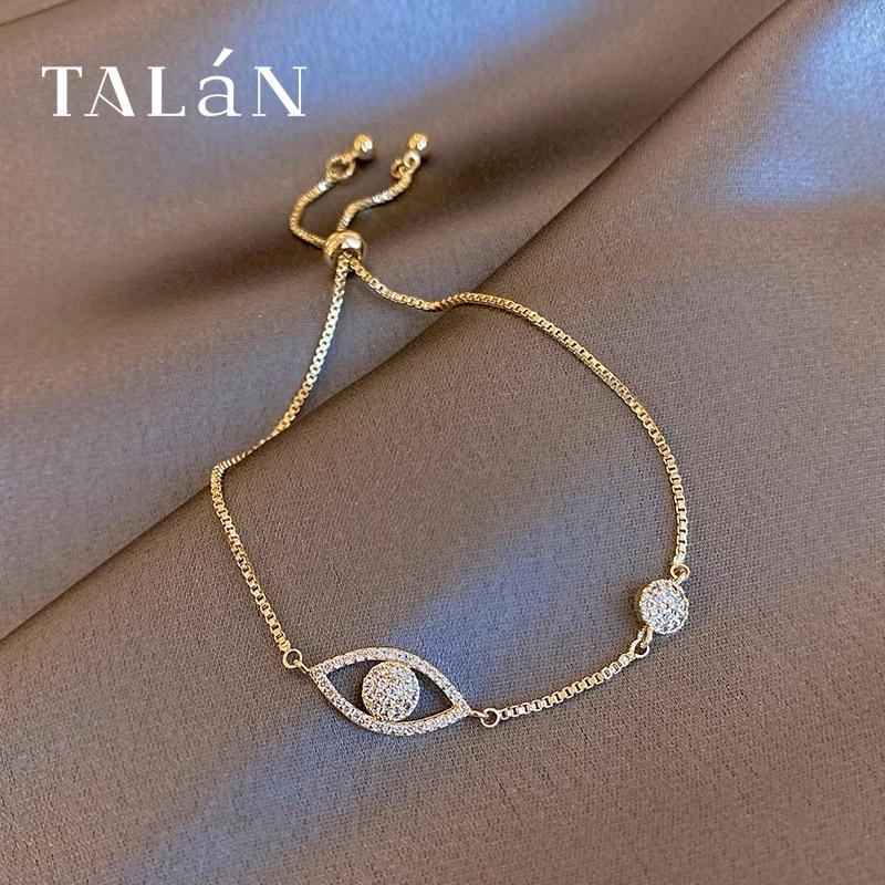 Gold Rhinestone Eye Bracelet Ins Special-Interest Design Fashion Bracelet Korean Temperament Online