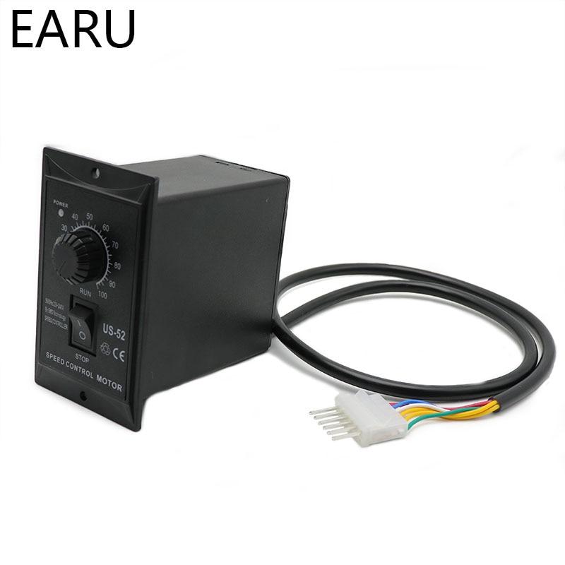 400W AC 220V 50/60Hz Motor Speed Pinpoint Regulator Controller US-52 Forward & Backward Motor Governor for Machine Pump DIY