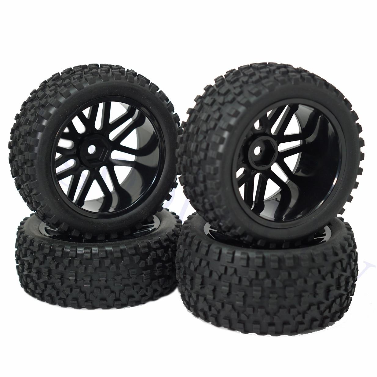 12 мм шестигранные колесные диски в форме сетки резиновые шины с губкой 88 мм/3,46 дюйма Замена для 1/10 RC внедорожника монстр, черный