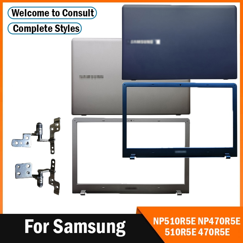 جديد محمول LCD الغطاء الخلفي/الجبهة الحافة/مفصلات لسامسونج NP510R5E NP470R5E 510R5E 470R5E الغطاء الخلفي العلوي 15.6
