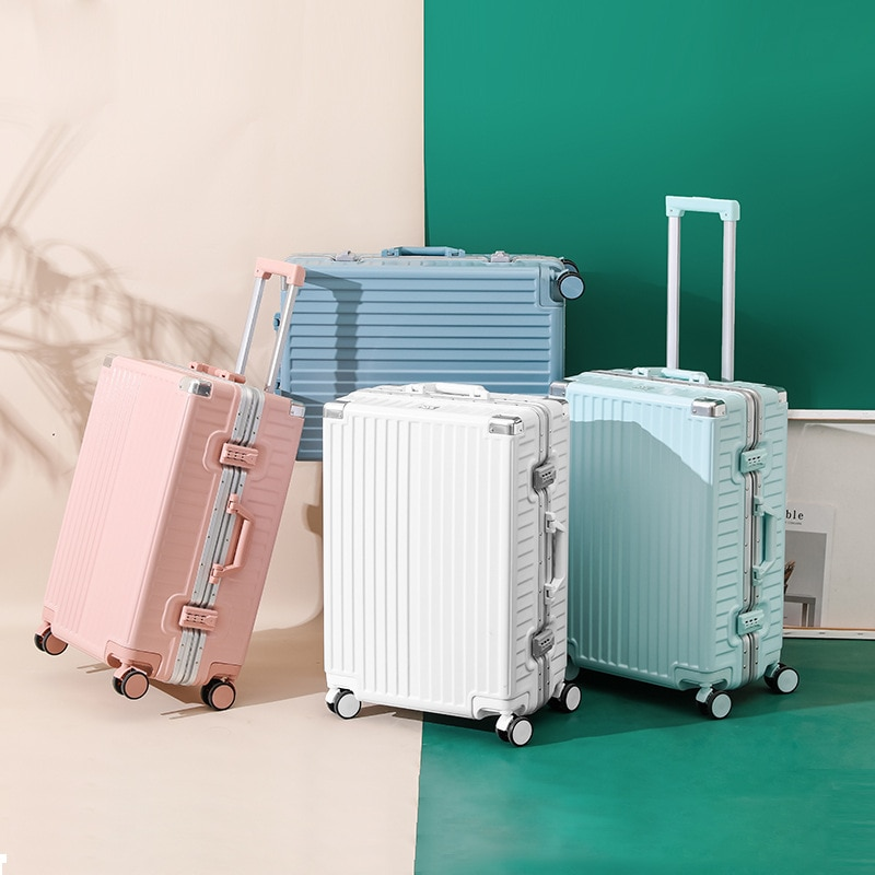 Fashion Boarding Suitcase 20/22/24/26 Inches Rolling Luggage Trolley Password Box Suitcase Men Women Sipnner Wheels Travel Bag