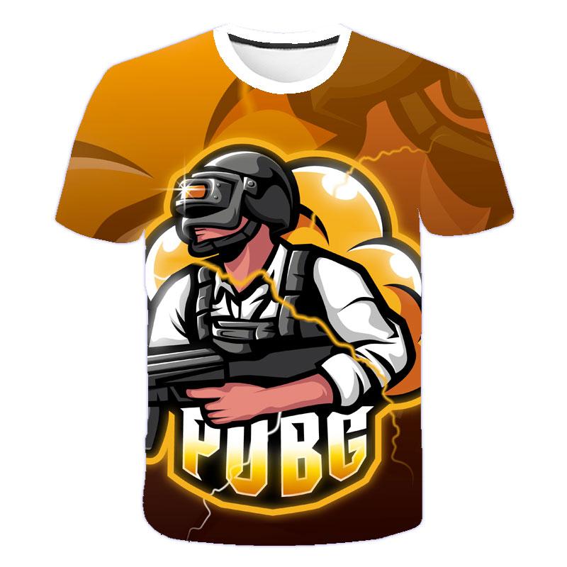 2021 Hot Sale Summer Casual Pubg 3D T shirt Boy Girl Kids Fashion Streetwear Men Women Children Printed T-shirt Cool Tops Tee недорого